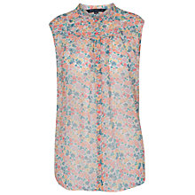 Buy French Connection Marylin Chiffon Blouse, Party Pink Online at johnlewis.com