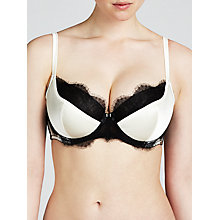 Buy Somerset by Alice Temperley Vintage Lace DD Plus Padded Bra, Cream / Black Online at johnlewis.com