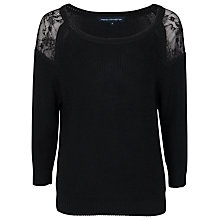 Buy French Connection Roma Lace Detail Jumper, Black Online at johnlewis.com