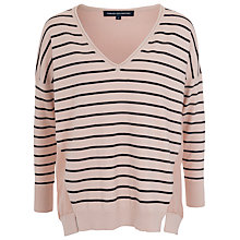 Buy French Connection Check Mate Striped Jumper, Blush Online at johnlewis.com