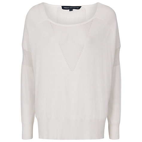 Buy French Connection Sunny Solids Knitted Jumper, Winter White Online at johnlewis.com