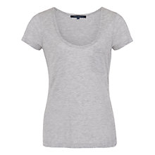 Buy French Connection Classic Marl Luxe T-Shirt Online at johnlewis.com