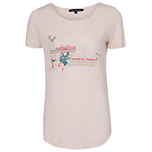 Buy French Connection Motel California T-Shirt, Capri Blush Online at johnlewis.com