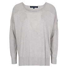 Buy French Connection Sunny Solids Knitted Jumper, Grey Online at johnlewis.com