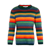 Buy John Lewis Boy Stripe Knit Jumper, Multi Online at johnlewis.com