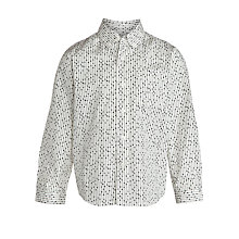 Buy John Lewis Boy Dot Print Shirt, Cream/Black Online at johnlewis.com