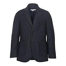 Buy John Lewis Heirloom Collection Boys' Herringbone Jacket, Navy Online at johnlewis.com