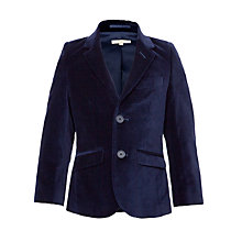 Buy John Lewis Heirloom Collection Boys' Velvet Jacket, Midnight Blue Online at johnlewis.com