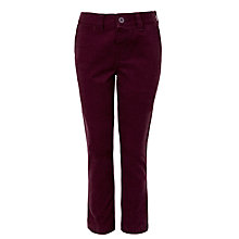 Buy John Lewis Hierloom Collection Boys' Moleskin Trousers, Burgundy Online at johnlewis.com