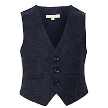 Buy John Lewis Heirloom Collection Boys' Herringbone Waistcoat, Navy Online at johnlewis.com