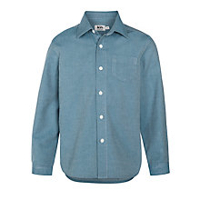 Buy Kin by John Lewis Boys' Textured Twill Cotton Shirt, Blue Online at johnlewis.com