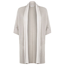Buy Windsmoor Edge to Edge Textured Cardigan, Biscuit Online at johnlewis.com