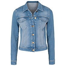 Buy French Connection Evie Spot Denim Jacket, Bluebell Wash Online at johnlewis.com