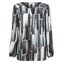 Buy Windsmoor Risley Printed Tunic Blouse, Brown Online at johnlewis.com