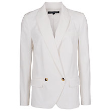Buy French Connection Isabela Drape Jacket, White Online at johnlewis.com