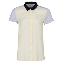 Buy French Connection Colour Block Shirt, Acid Zest Online at johnlewis.com