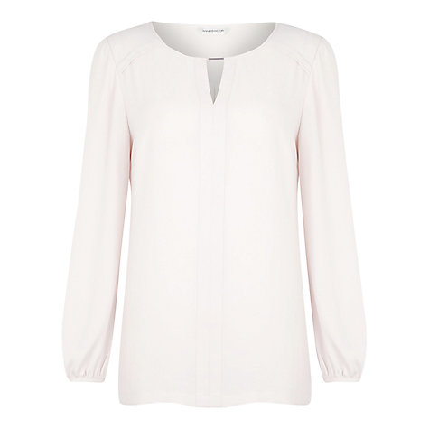 Buy Windsmoor Tunic Blouse, White Online at johnlewis.com
