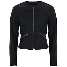 Buy French Connection Moon Biker Jacket, Black Online at johnlewis.com
