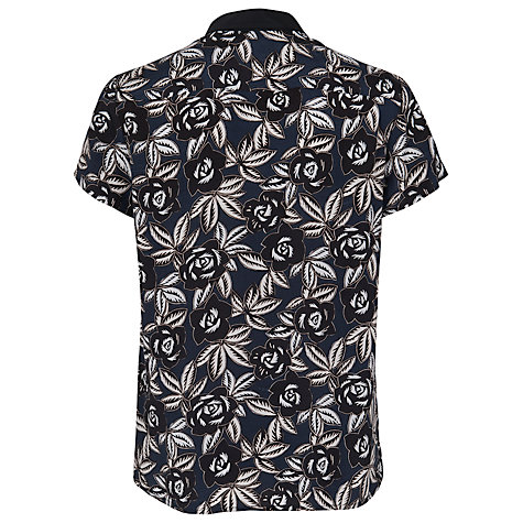 Buy French Connection Argan Rose Relaxed Shirt, Black Online at johnlewis.com