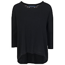 Buy French Connection Grace Lace Insert Jumper, Black Online at johnlewis.com