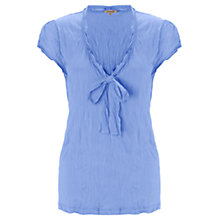 Buy Jigsaw Tie Neck Cotton Blend Top Online at johnlewis.com