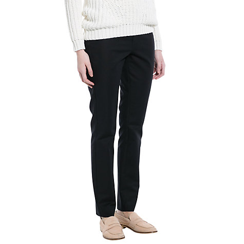 Buy Mango Stretch Cotton Trousers, Black Online at johnlewis.com