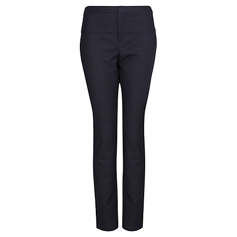 Buy Mango Stretch Cotton Trousers, Navy Online at johnlewis.com