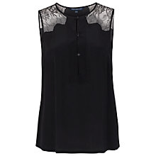 Buy French Connection Lustre Silk Sleeveless Top, Black Online at johnlewis.com
