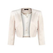 Buy Alexon Sateen Bolero Jacket, Neutral Online at johnlewis.com