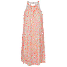 Buy French Connection Sweet Mix Sequin Halter Dress, Winter White Online at johnlewis.com