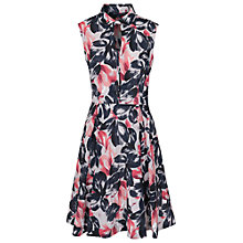 Buy French Connection Lucky Leaves Print Shirt Dress, Utility Blue Online at johnlewis.com