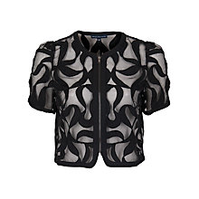 Buy French Connection Cropped Silhouette Jacket, Black Online at johnlewis.com