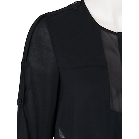 Buy French Connection Smoke Whisper Tie Waist Dress, Black Online at johnlewis.com