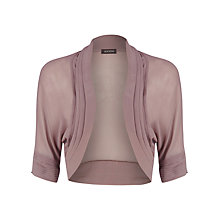 Buy Alexon Chiffon Pleat Bolero Jacket, Brown Online at johnlewis.com
