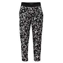 Buy French Connection Argan Rose Peg Leg Trousers, Black Online at johnlewis.com