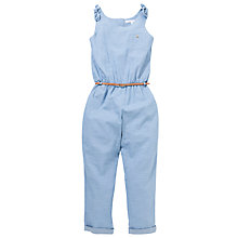 Buy Loved & Found Girls' Chambray Jumpsuit, Denim Online at johnlewis.com