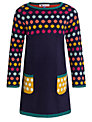 John Lewis Girl Multispot Knit Dress, Navy