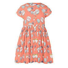 Buy John Lewis Girl Balloon Print Dress, Orange Online at johnlewis.com