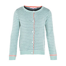 Buy John Lewis Girl Birdseye Knit Cardigan, Pastel Green Online at johnlewis.com
