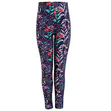 Buy John Lewis Girl Floral Print Leggings, Navy/Multi Online at johnlewis.com
