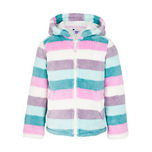 Buy John Lewis Girl Stripe Fluffy Fleece, Multi Online at johnlewis.com