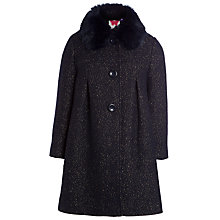Buy John Lewis Girl Faux Fur Collar Coat Online at johnlewis.com