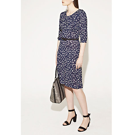 Buy French Connection Clover Bug Jersey Dress, Black Online at johnlewis.com