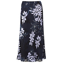 Buy Jacques Vert Floral Silk-Blend Skirt, Navy Multi Online at johnlewis.com