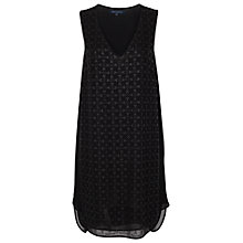 Buy French Connection Pebble V-Neck Tunic, Black Online at johnlewis.com