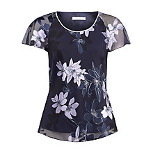 Buy Jacques Vert Floral Blouse, Navy Multi Online at johnlewis.com
