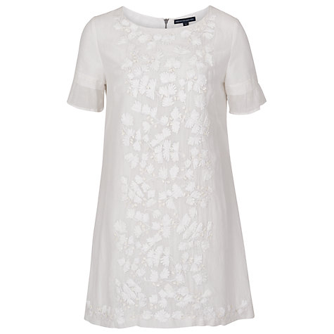 Buy French Connection Annie Bow Tunic, Winter White Online at johnlewis.com