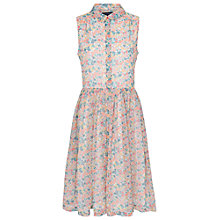 Buy French Connection Marilyn Chiffon Shirt Dress, Party Pink Online at johnlewis.com