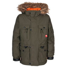 Buy Tresspass Avalanche Hooded Jacket, Khaki Online at johnlewis.com