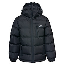 Buy Trespass Boys' Tuff Padded Jacket, Black Online at johnlewis.com